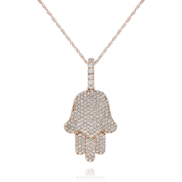 Pave Diamond Hamsa-28.55mm Length