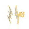 Pave Diamond Lightning Bolt Studs
