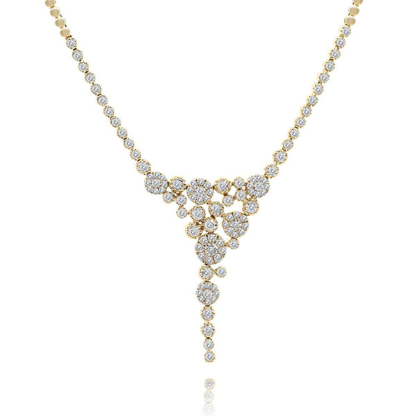 Diamond Cluster Flow Necklace