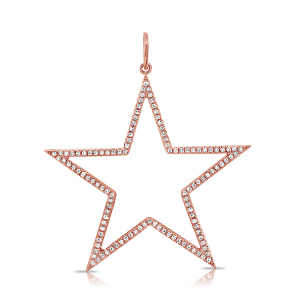 Diamond Star Outline Pendant