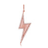 Pave Diamond Outline Lightning Bolt Pendant