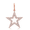 Outline Diamond Star Pendant