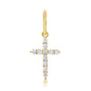 Medium Diamond Shared Prong Cross Pendant