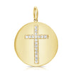 Diamond Cross Disc Pendant