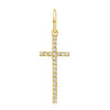 Elongated Diamond Cross Pendant