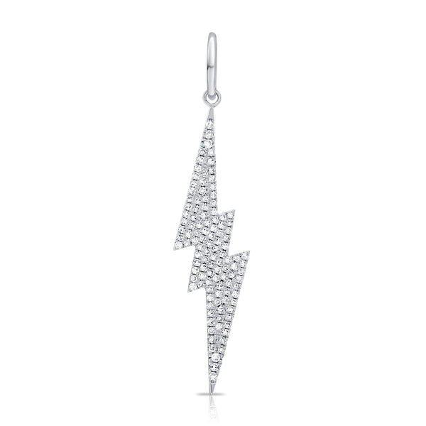 Small Six Point Pave Diamond Lightning Bolt Pendant
