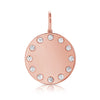 Diamond Disc With Twelve Diamonds on Outline Pendant