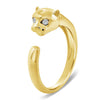 Panther Ring With Diamond Eyes