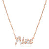 Diamond Name Plate Necklace