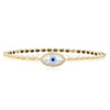 Gold Evil Eye Bangle Bracelet