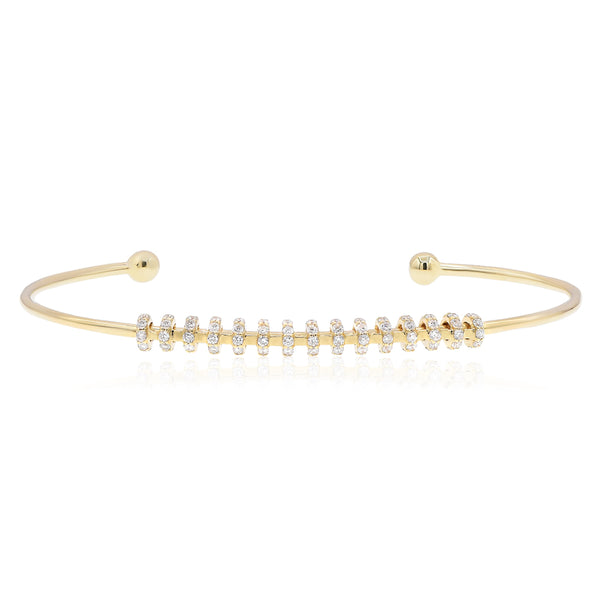 Gold Zipper Cuff Bracelet