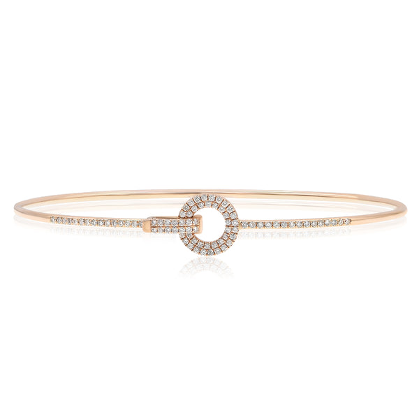 Rose Gold and Diamond Clip Bangle