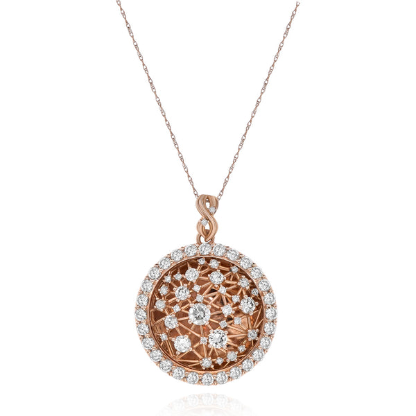 Circle With Diamonds Rose Gold