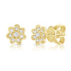Tiny Flower Diamond Studs