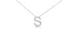 Medium Block Initial Pendant Necklace With Diamonds