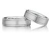 6mm Comfort Beveled Wedding Band Set