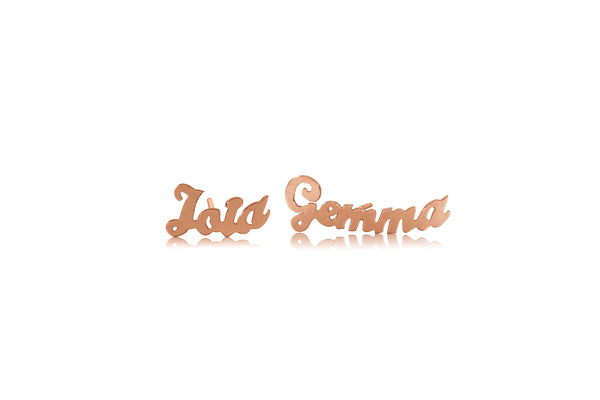 Personalized Gold Name plate Earring