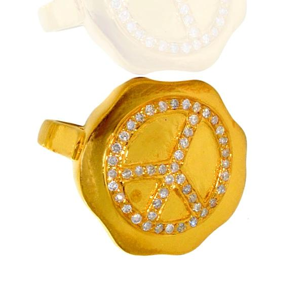 Yellow Gold Peace Ring