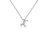 Gothic Initial Diamond Pendant Necklace