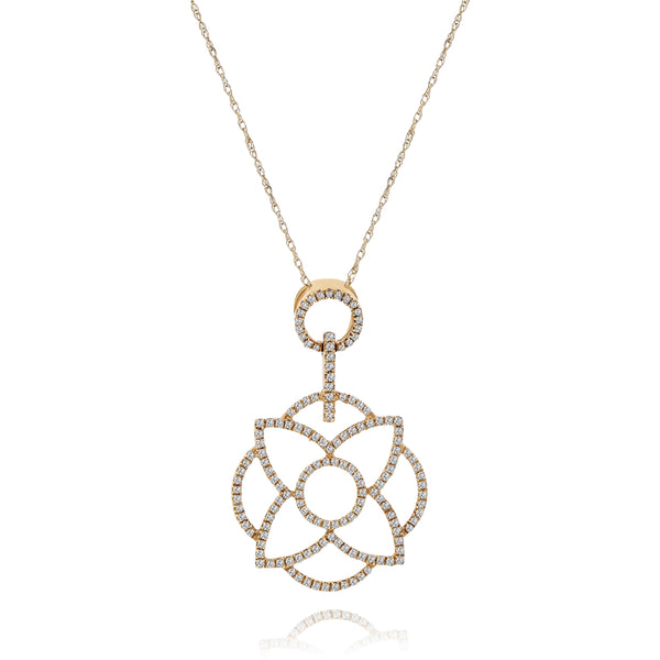 Floral Diamond Abstract Pendant