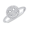 Pave Diamond Smile Ring