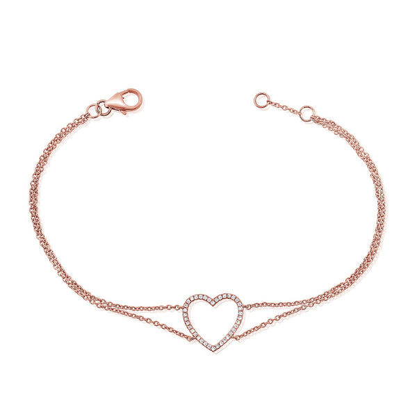 Open Heart Diamond Bracelet
