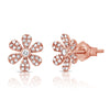 Pave Diamond Flower Studs