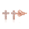 Diamond Cross Studs