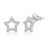 Diamond Star Outline Studs