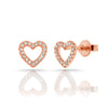 Open Heart Diamond Earrings