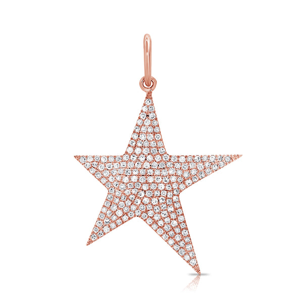 Elongated Diamond Star Pendant