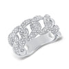 Pave Diamond Chain Link Ring