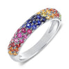 Colored Stone Pave Band Ring