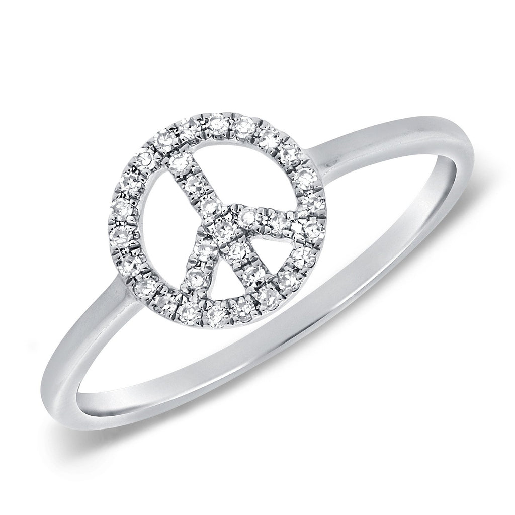 Diamond Peace Sign Ring