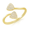 Pave Diamond Two Triangle Ring