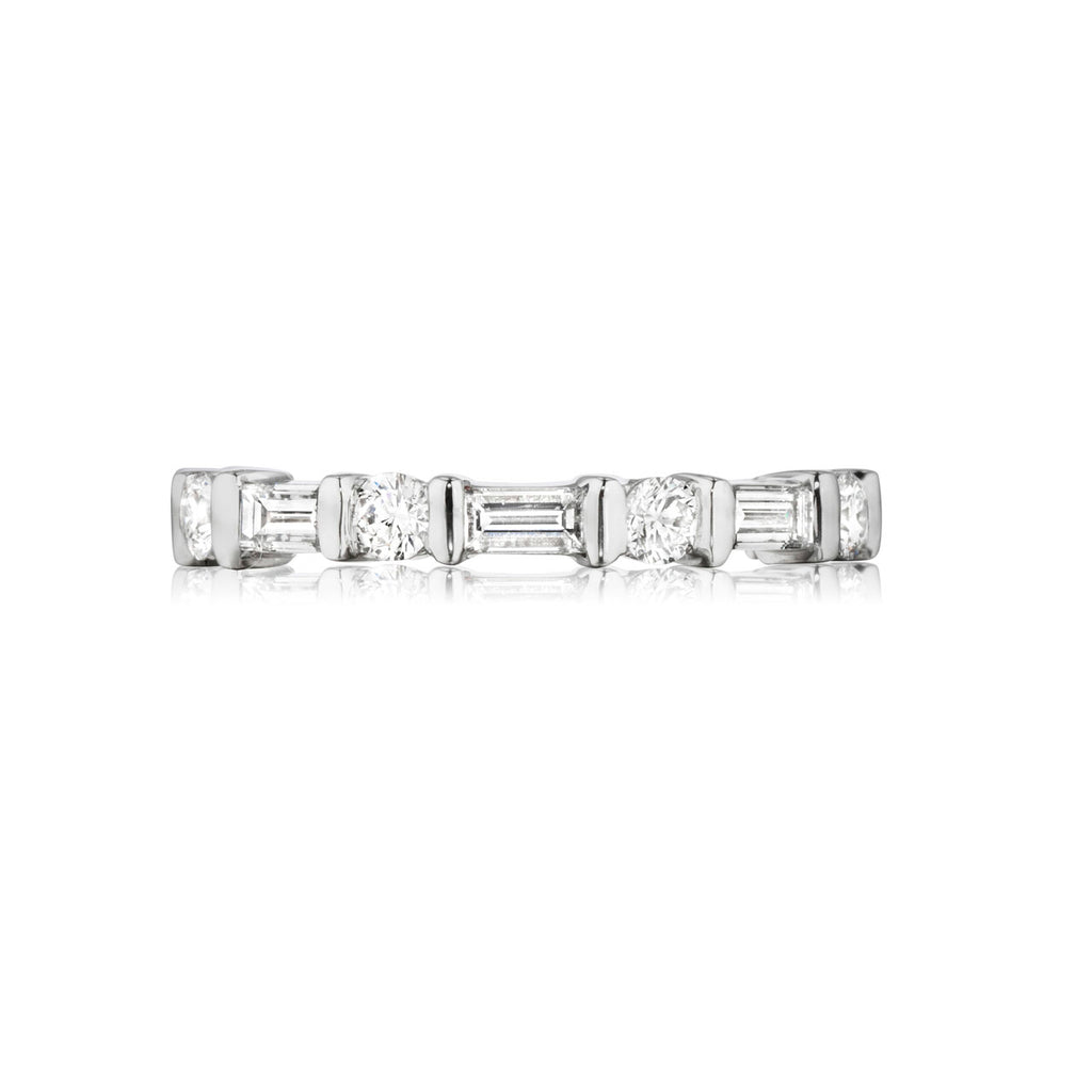 Bar Channel Diamond Eternity Band
