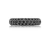 5mm Black Diamond Pavé Eternity Wedding Band