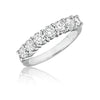 7 Stone Shared Prong Diamond Wedding Band