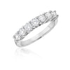 7 Stone Shared Prong Diamond Wedding Band with Gallery