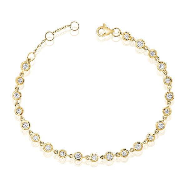 Adjustable Diamond Bezel Bracelet