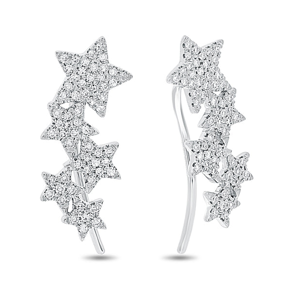 Diamond Star Climber Earrings