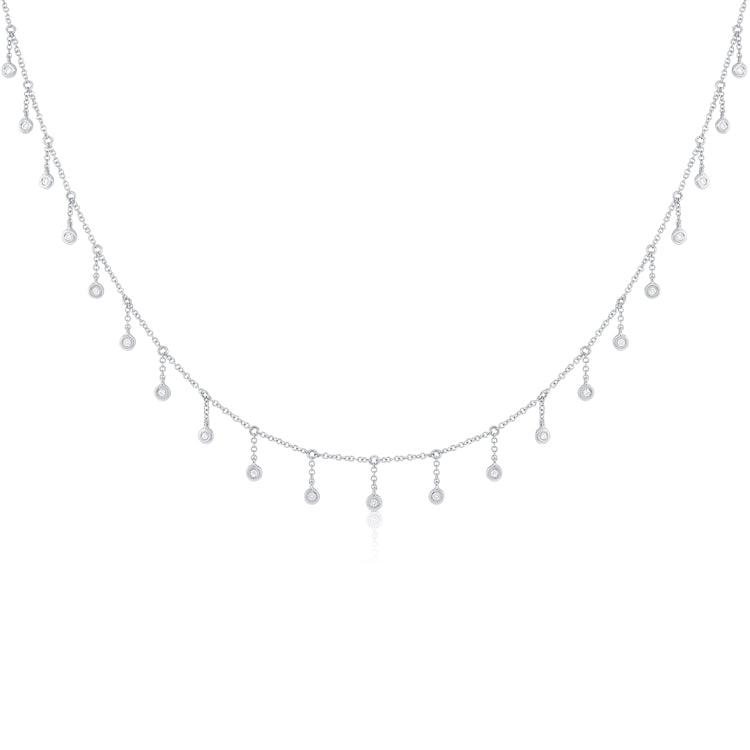 Delicate Diamond Drop Necklace