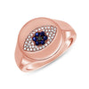 Evil Eye Signet Ring
