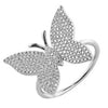 Large Diamond Butterfly Ring