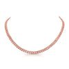 Curb Chain Necklace with Diamonds