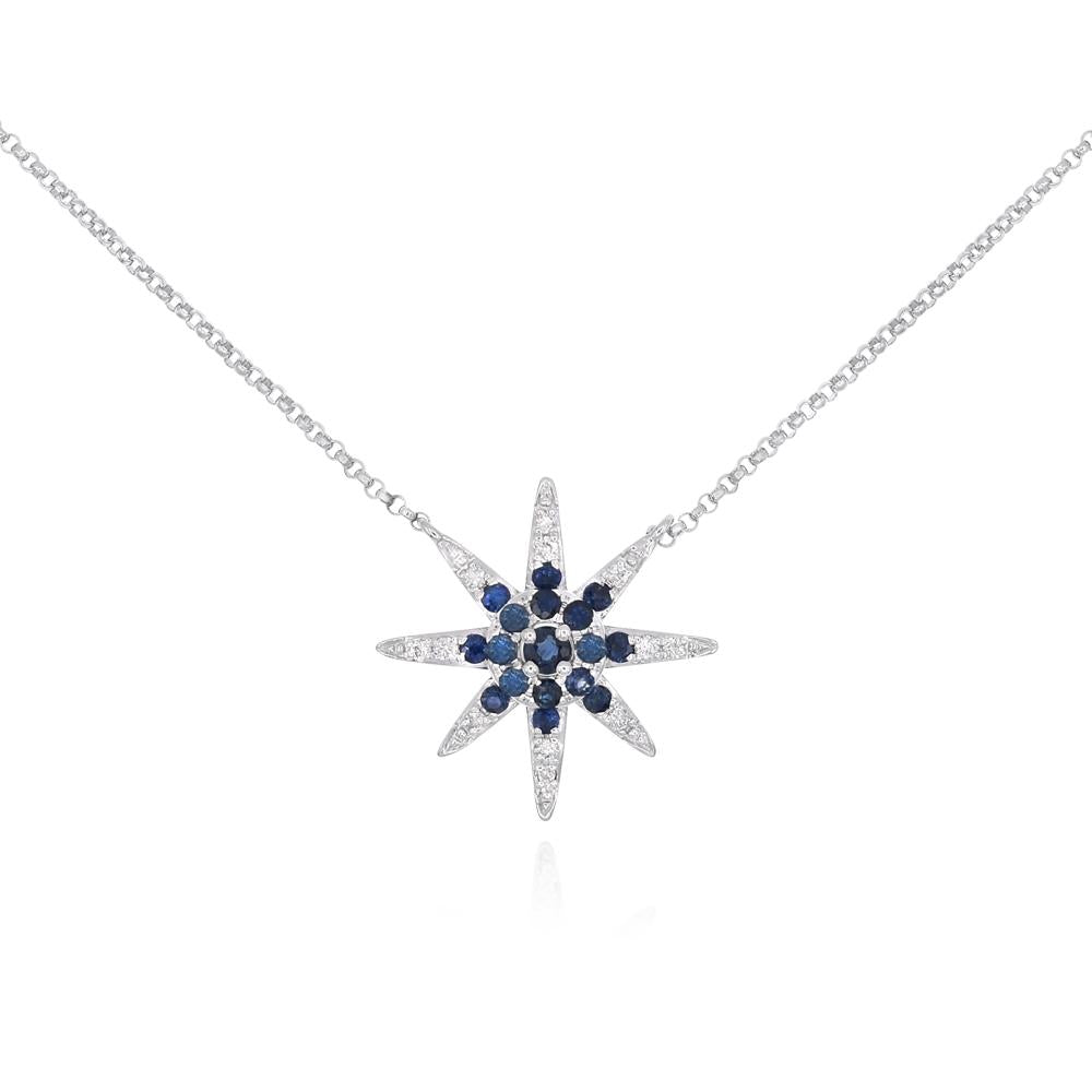 Sapphire and Diamond Antique Star