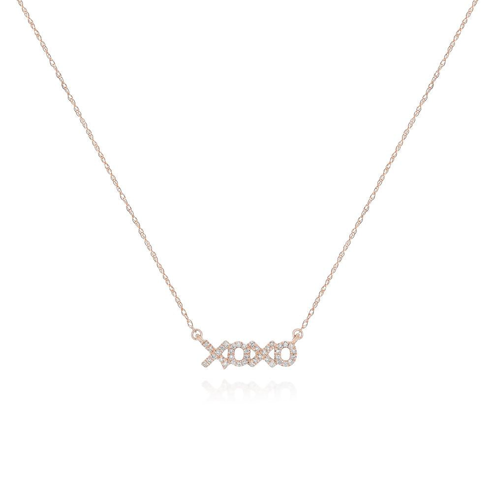 Pave Diamond XOXO Necklace