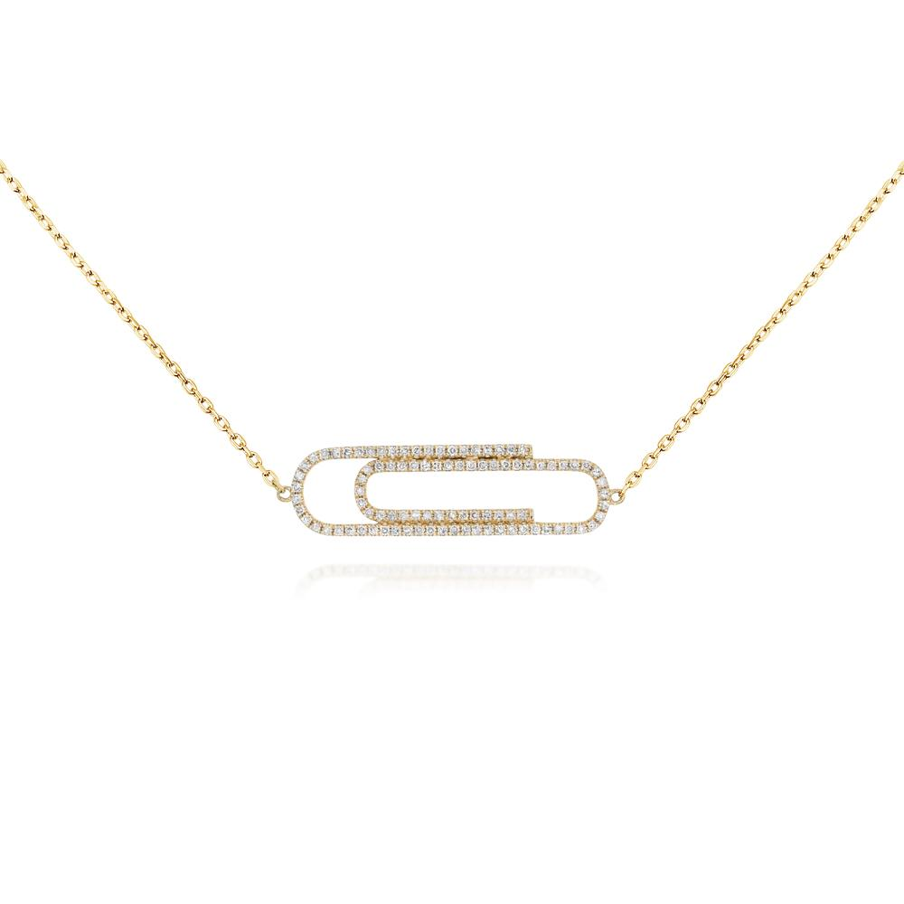 Yellow Gold & Diamond Paper Clip