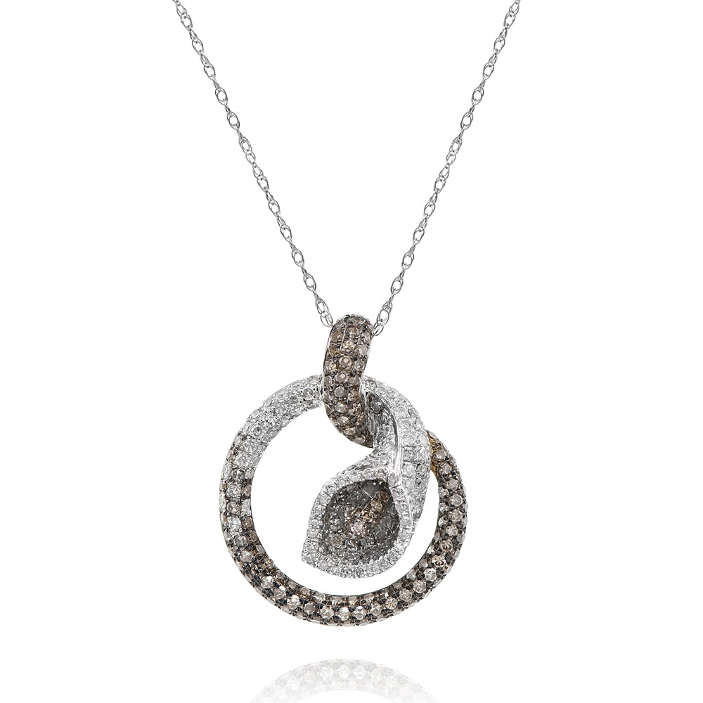 Brown Diamond Flow Pendant