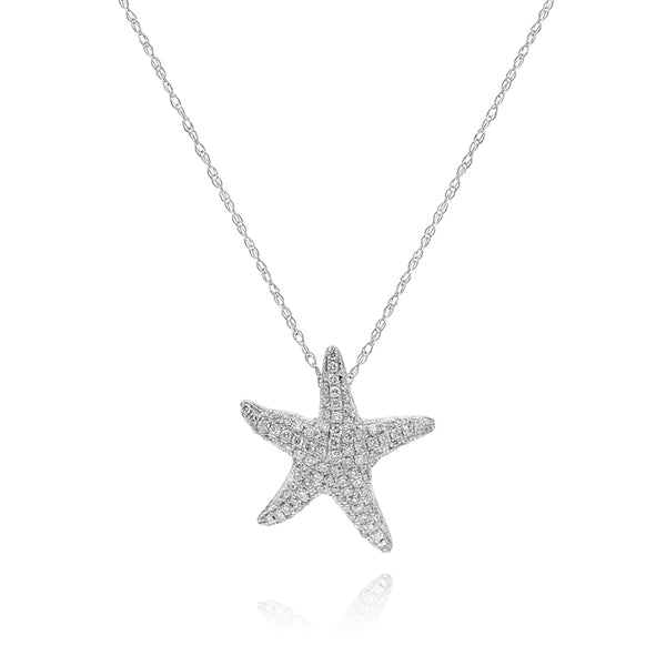 Pave Diamond Starfish